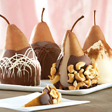 Chocolate Caramel Dipped Pears