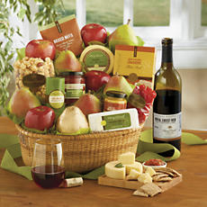 Roxy Ann Gift Basket Deluxe with Wine