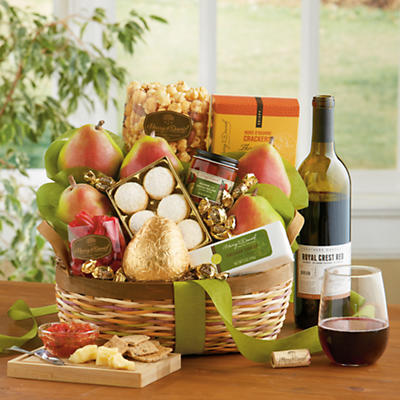 <span style=color:#bb0011>NEW</span> Crater Lake Gift Basket Classic with Wine