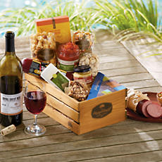<span style=color:#bb0011>NEW</span> Rogue River Snack Gift Basket with Wine