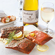 Wild Alaskan Salmon Trio with Wine
