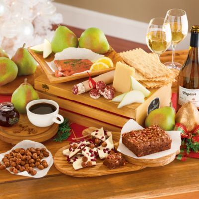<span style=color:#bb0011>NEW</span> Northwest Gift Basket Grand Deluxe with Wine