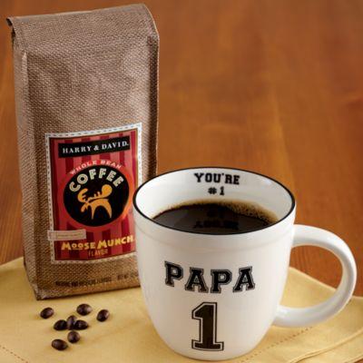 Papa Mug with Coffee
