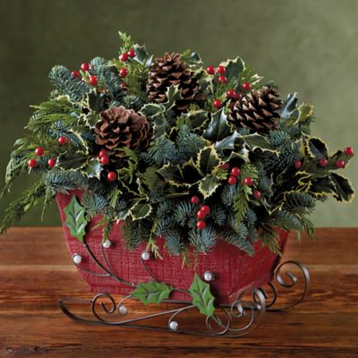Holiday Sleigh Centerpiece