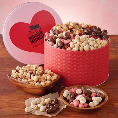 Valentine's Day Moose Munch Gourmet Popcorn Tin
