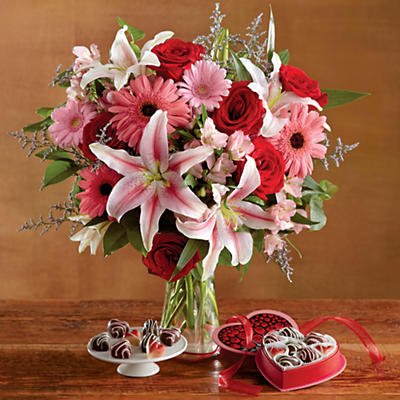 Valentine's Day Flowers and Chocolates