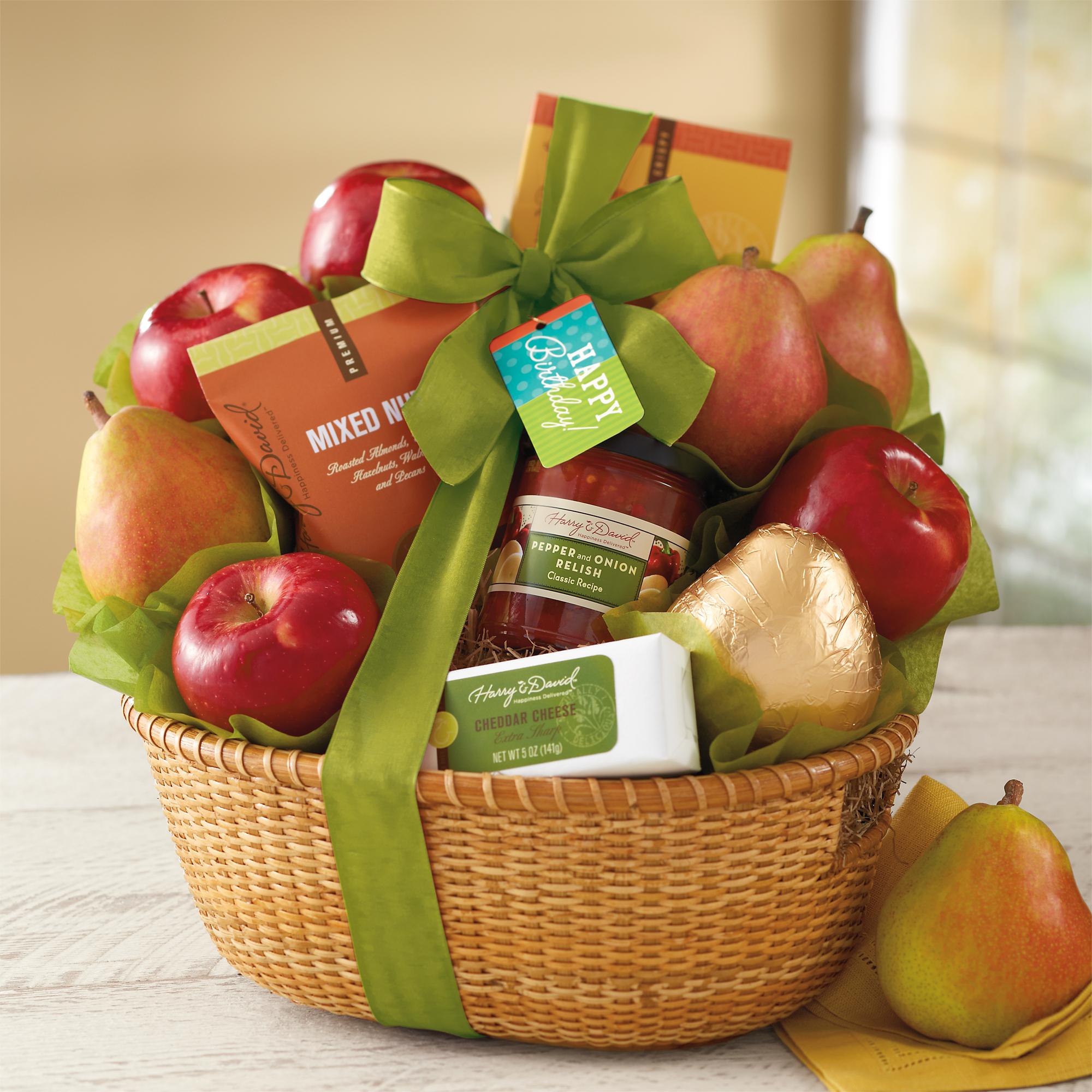 Harry And David Birthday Gift Baskets : Birthday gift basket happy baskets