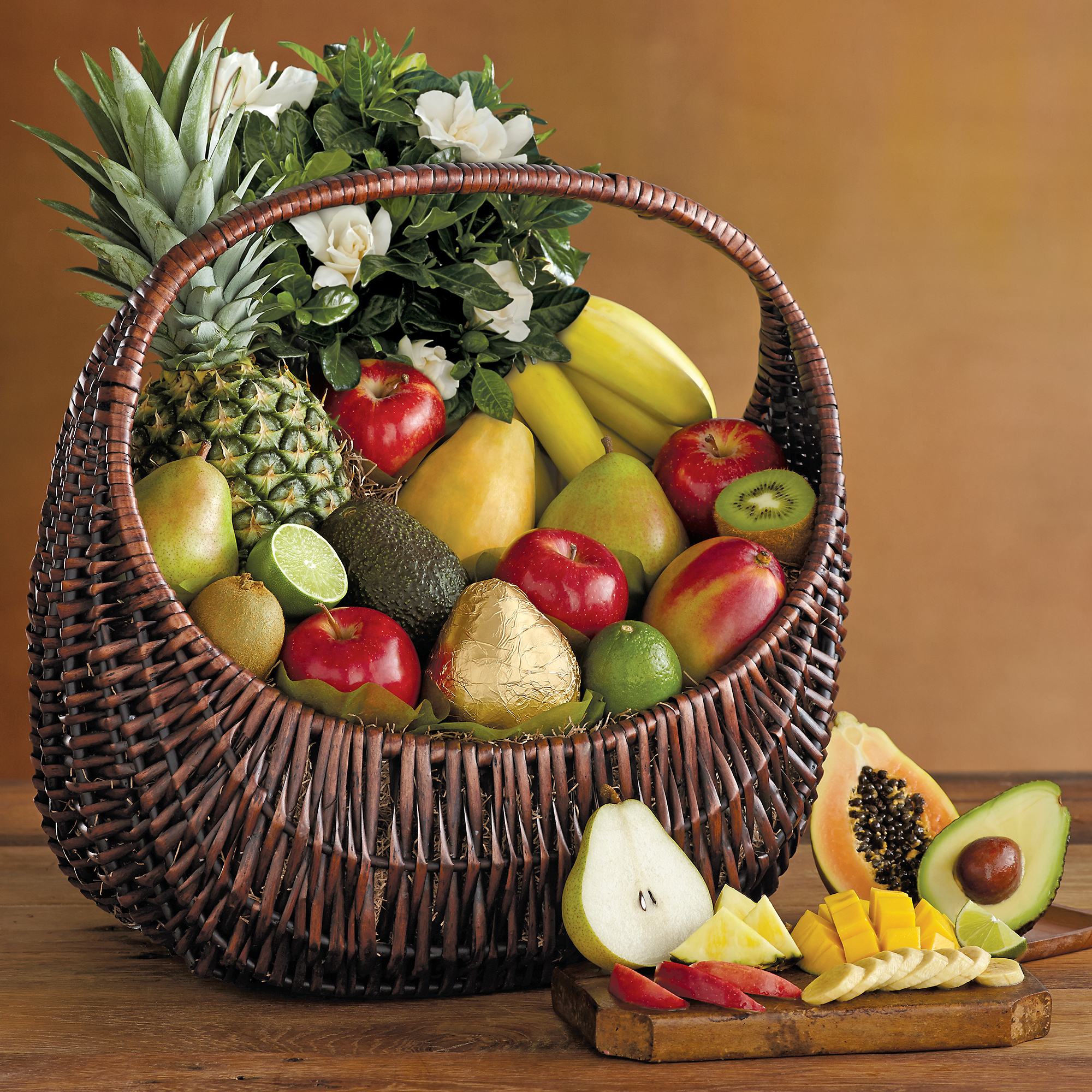 Flowers And Fruit Gift Basket Fruit Baskets Harry David