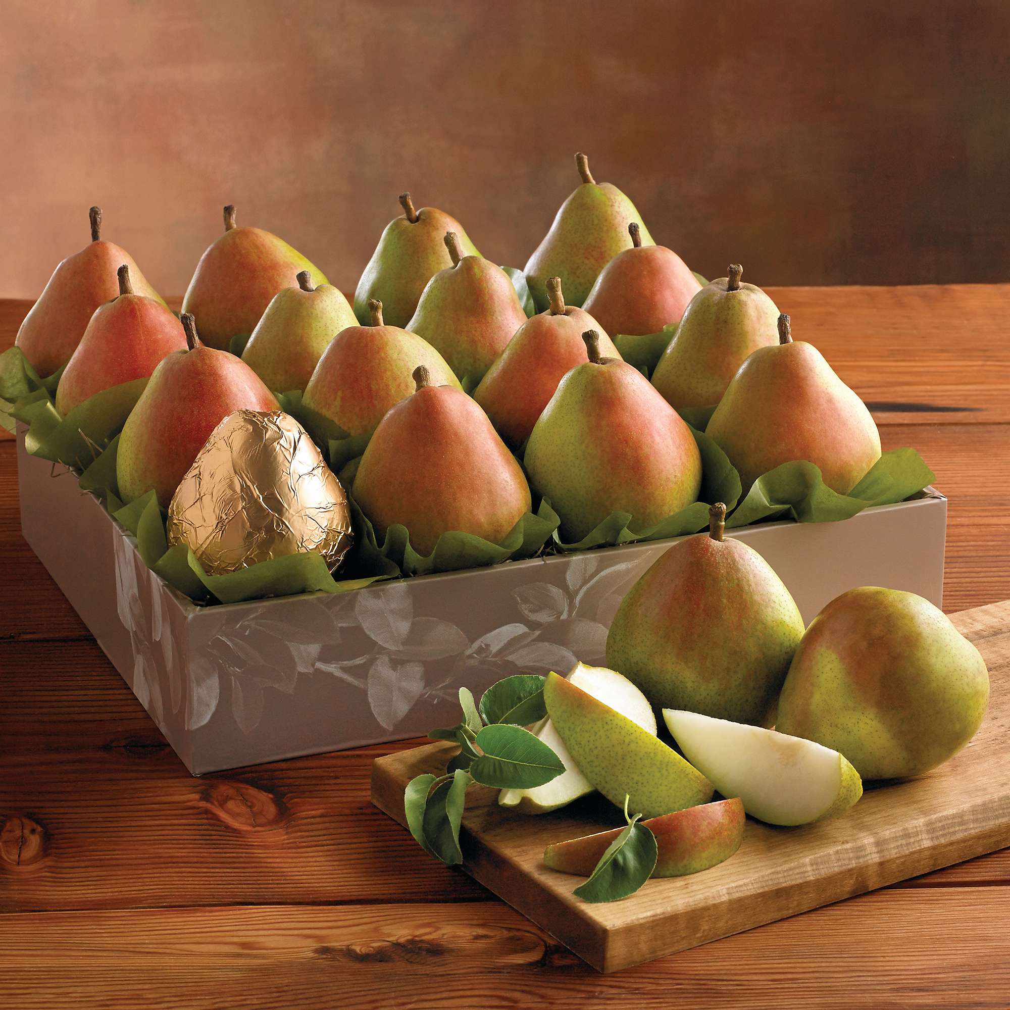 Celebrate the accomplishments of a friend or loved one with a spectacular gift of nature's finest fruit. Sweet and juicy Royal Verano™ Pears are nestled together with one wrapped in .