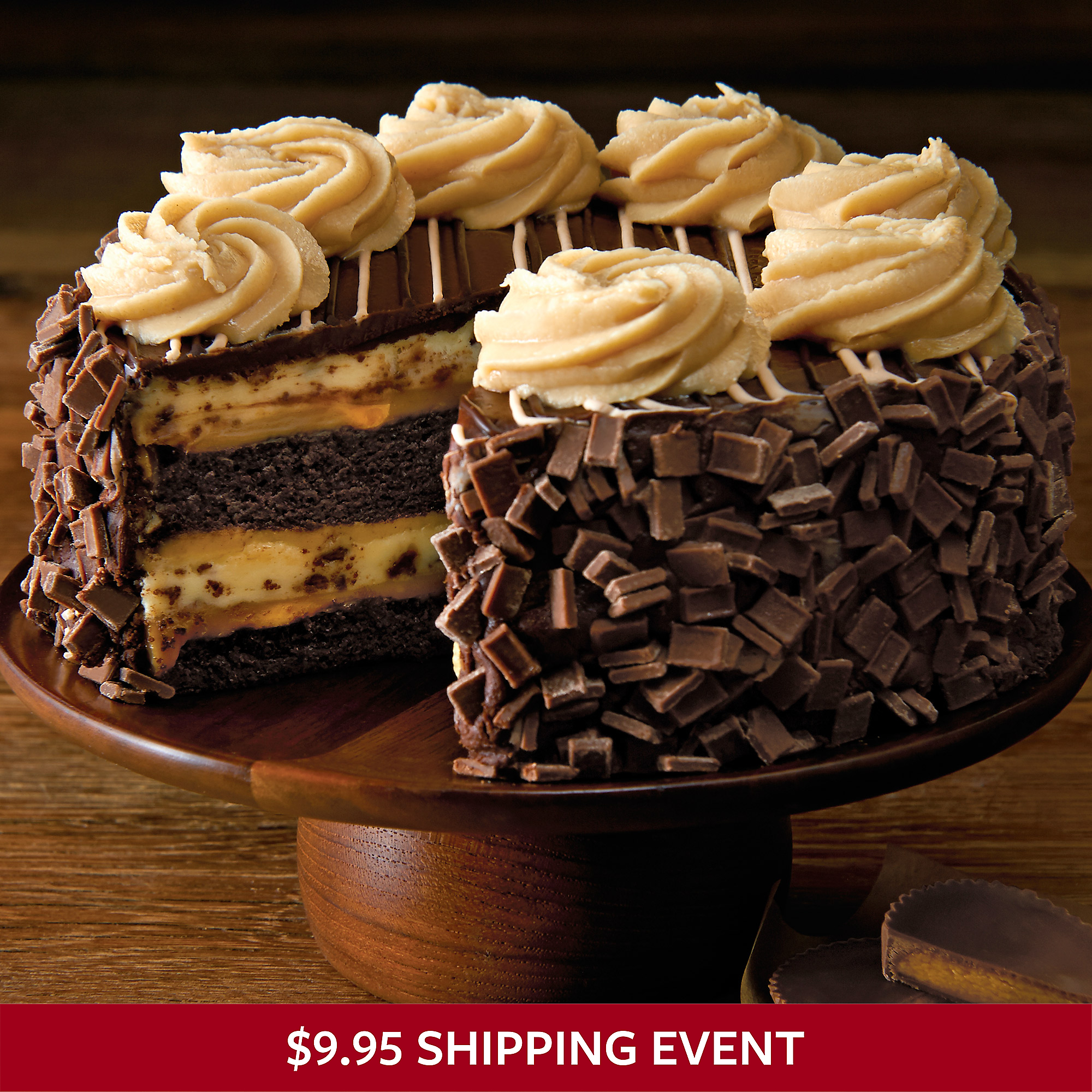 ... Cheesecake Factory® REESE'S® Peanut Butter Chocolate Cake Cheesecake