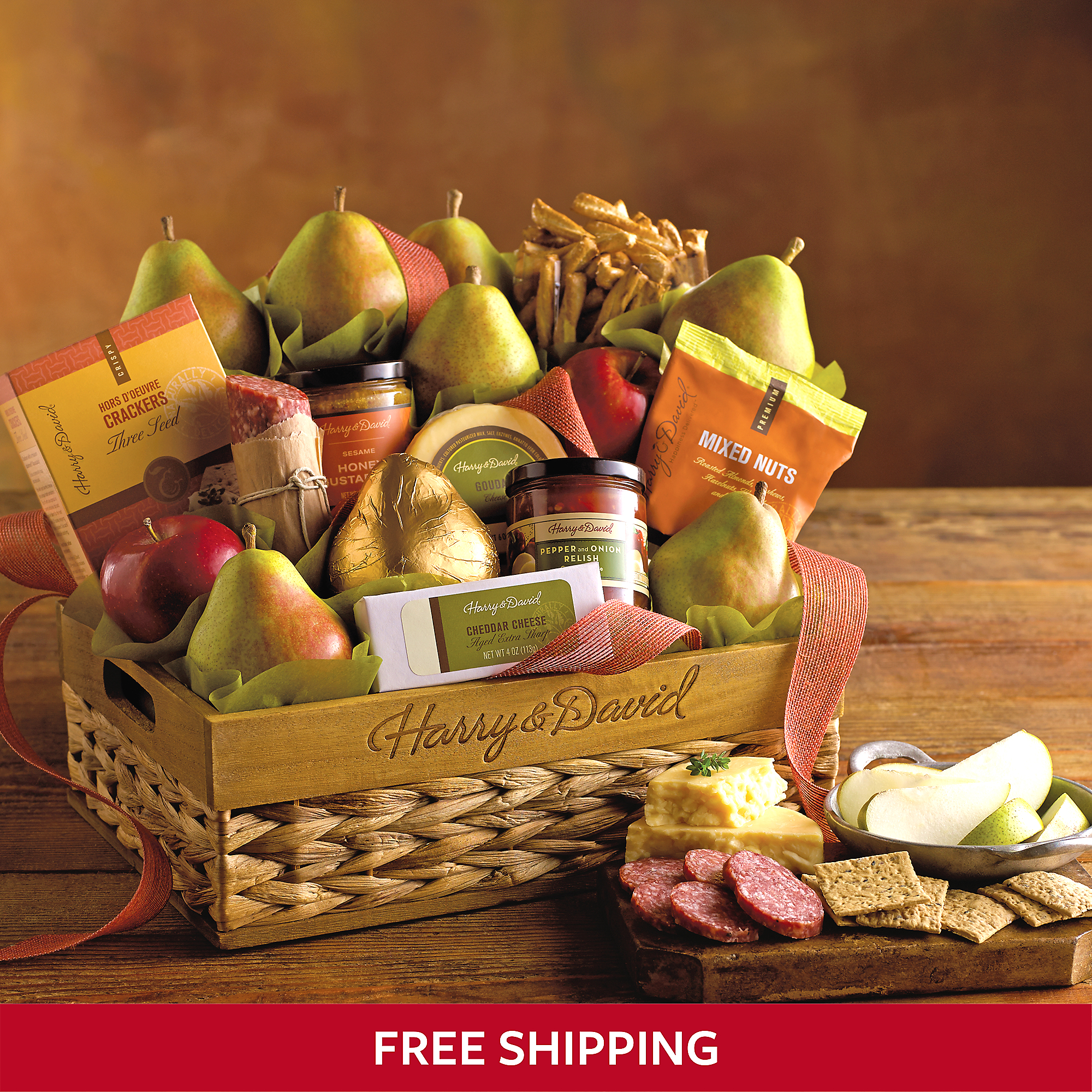 Grand Signature Gift Basket Mixed Snacks Fruit Baskets