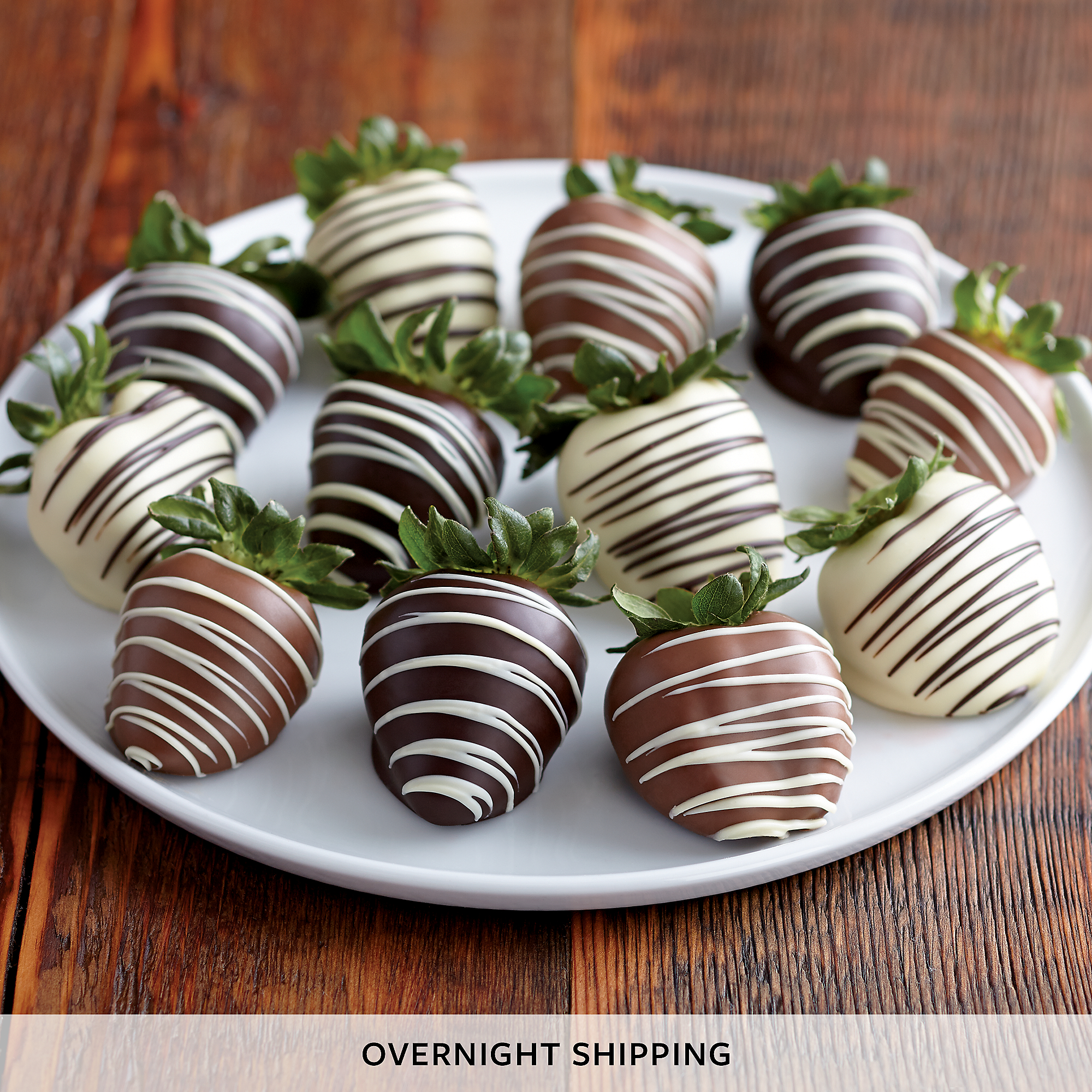 Double-Hand-Dipped Chocolate-Covered Strawberry Medley | Fruit Gifts