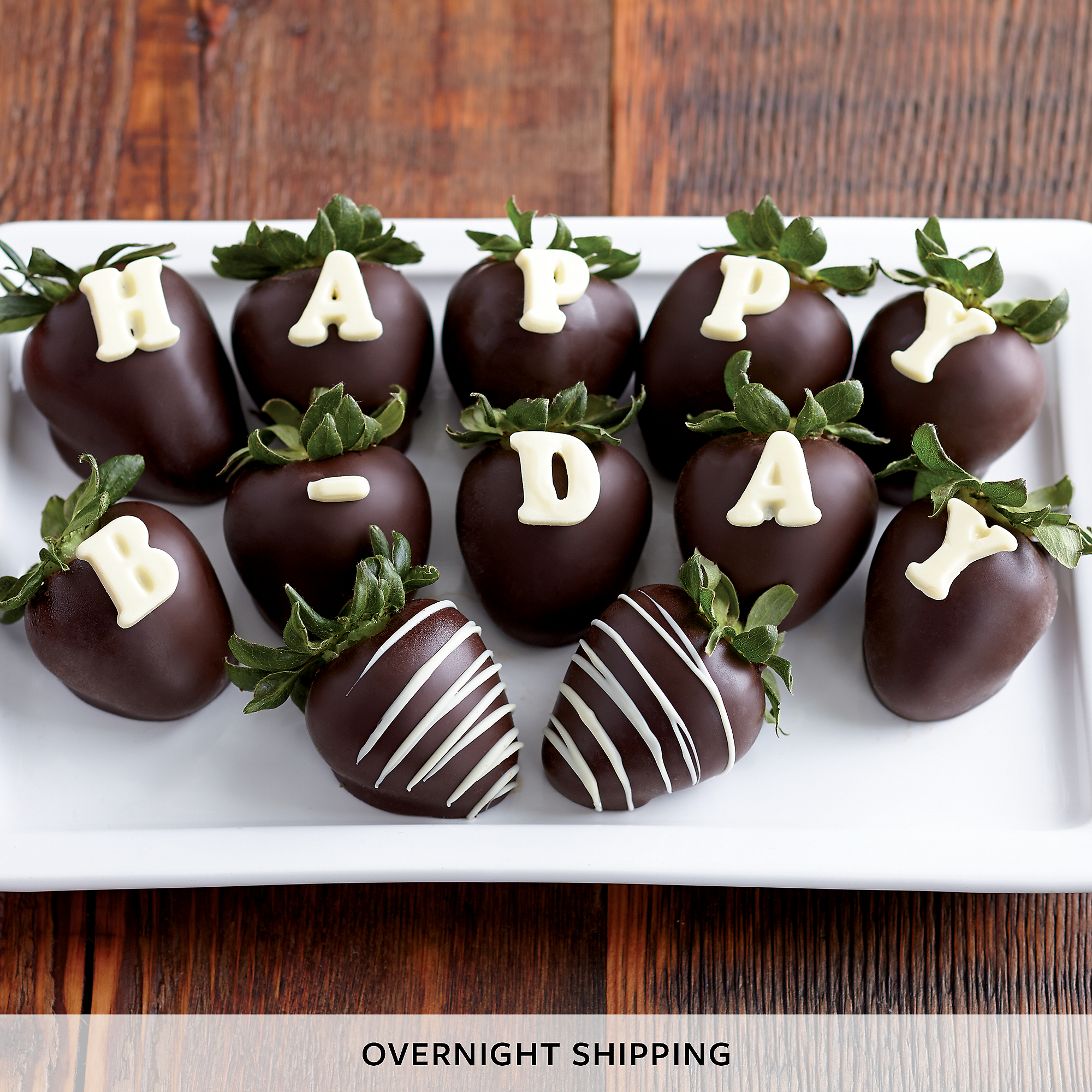 Happy Birthday Hand-Dipped Chocolate-Covered Strawberries