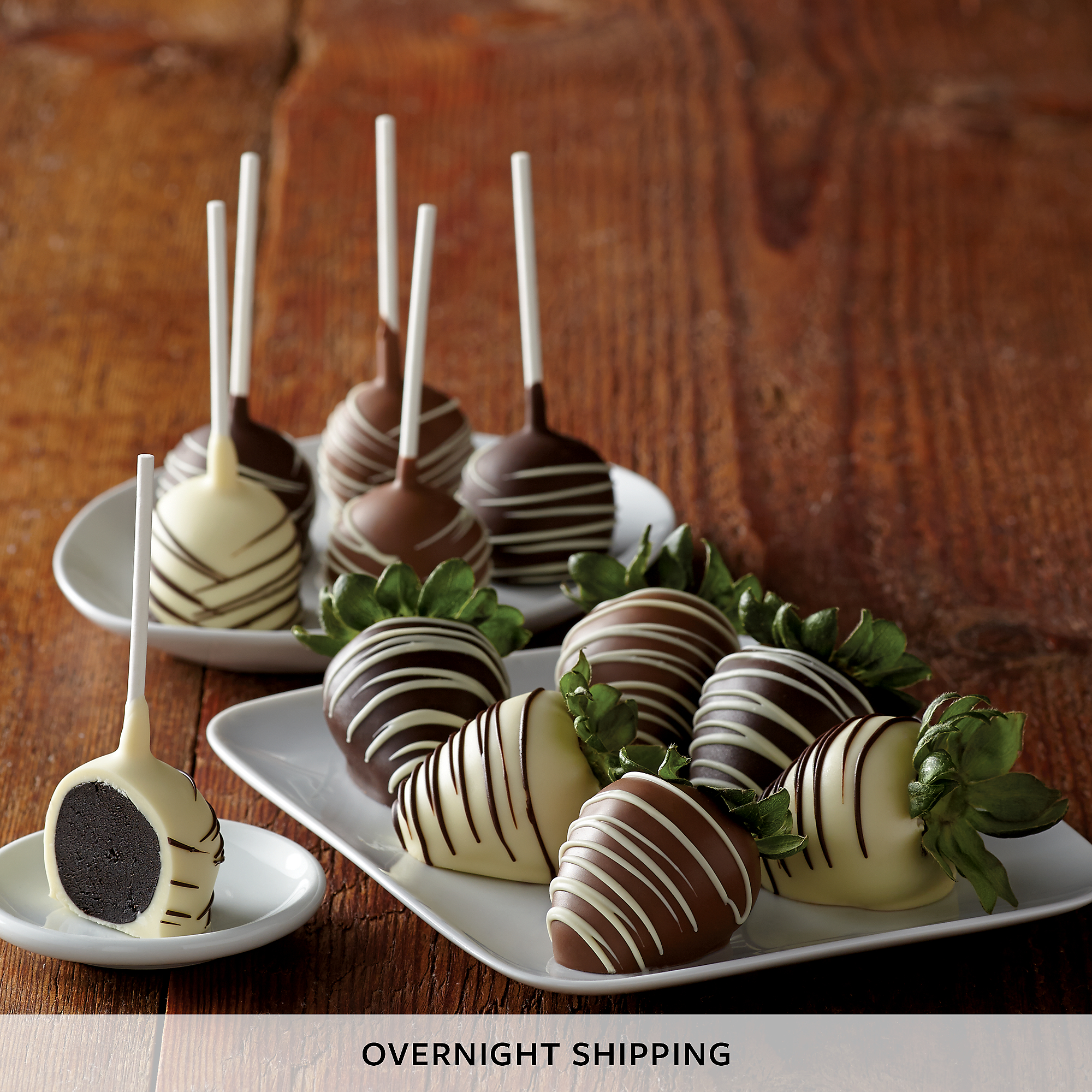 Hand-Dipped Chocolate-Covered Strawberries and Cake Pops - Half Dozen ...