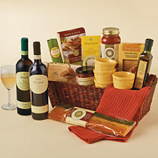 Cucina D'Italia Gift Basket with Italian Wine