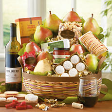 <span style=color:#bb0011>NEW</span> Crater Lake Gift Basket Deluxe with Wine