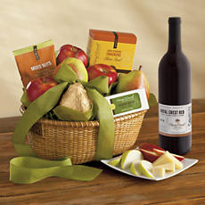 Roxy Ann Gift Basket Delight with Wine