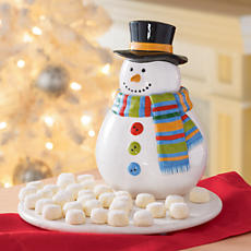 <span style=color:#bb0011>NEW</span> Snowman Cookie Jar