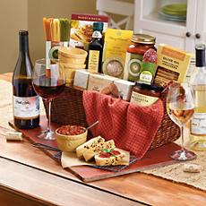 Cucina D'Italia Gift Basket with Wine