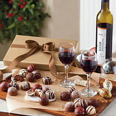 Dessert Wine and Truffles Gift