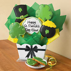 Personalized St. Patrick's Day Cookie Bouquet