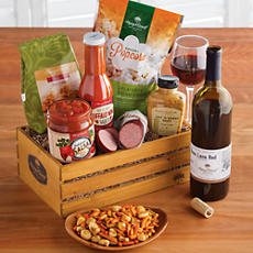 NEW Hot and Spicy Snack Crate with Wine