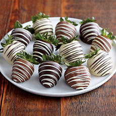 NEW Deluxe Double Dipped Belgian Chocolate Covered Strawberries