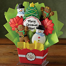 Personalized Holiday Cookie Bouquet