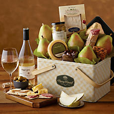 Picnic Basket Gift Tin with Wine