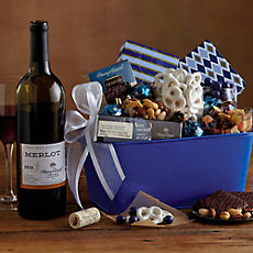 Blue Canyon Gift Basket with Wine