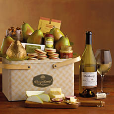 Autumn Picnic Basket with Wine