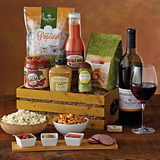 Savory Snack Crate with Wine
