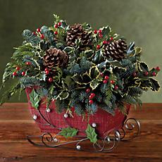 Holiday Sleigh Centerpiece