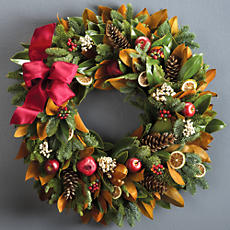 Large Holiday Magnolia Wreath