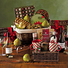 Sled of Holiday Treats with Wine
