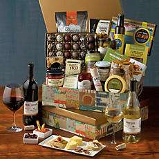 Gourmet Entertaining Assortment with Wine