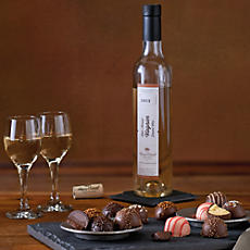 Dessert Truffles with Wine