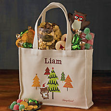 Personalized Holiday Gift Tote