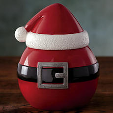 Santa Belly Cookie Jar