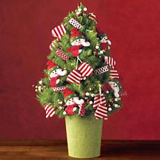 Snowman Mini Christmas Tree
