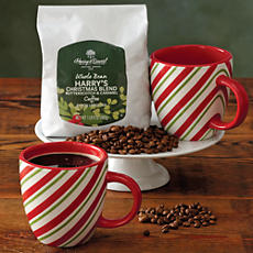 Holiday Coffee and Candy Cane Mug Gift Set