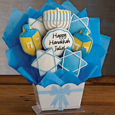 Personalized Hanukkah Cookie Bouquet