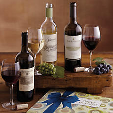 Happy Birthday Napa Valley Wine Trio