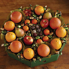 Deluxe Holiday Fruit Wreath