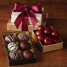 Chocolate Cherries and Truffles Gift, Six-Pack