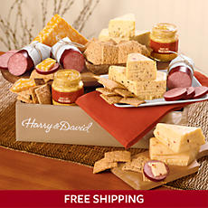 Sausage, Cheese and Crackers Gift Box Deluxe