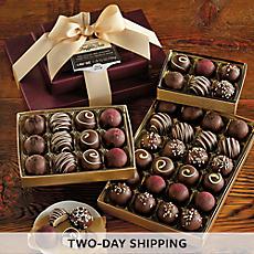Dark Chocolate Truffle Trio