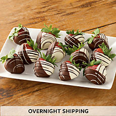 Hand Dipped Chocolate Covered Strawberries - One Dozen