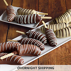 Hand Dipped Chocolate Covered Bananas - One Dozen