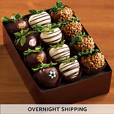 NEW Game Day Hand Dipped Chocolate Covered Strawberries - One Dozen